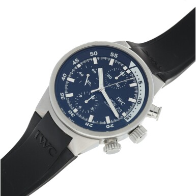 View 6. Thumbnail of Lot 235. REFERENCE 3719 AQUATIMER A STAINLESS STEEL AUTOMATIC CHRONOGRAPH WRISTWATCH WITH DAY AND DATE, CIRCA 2005.