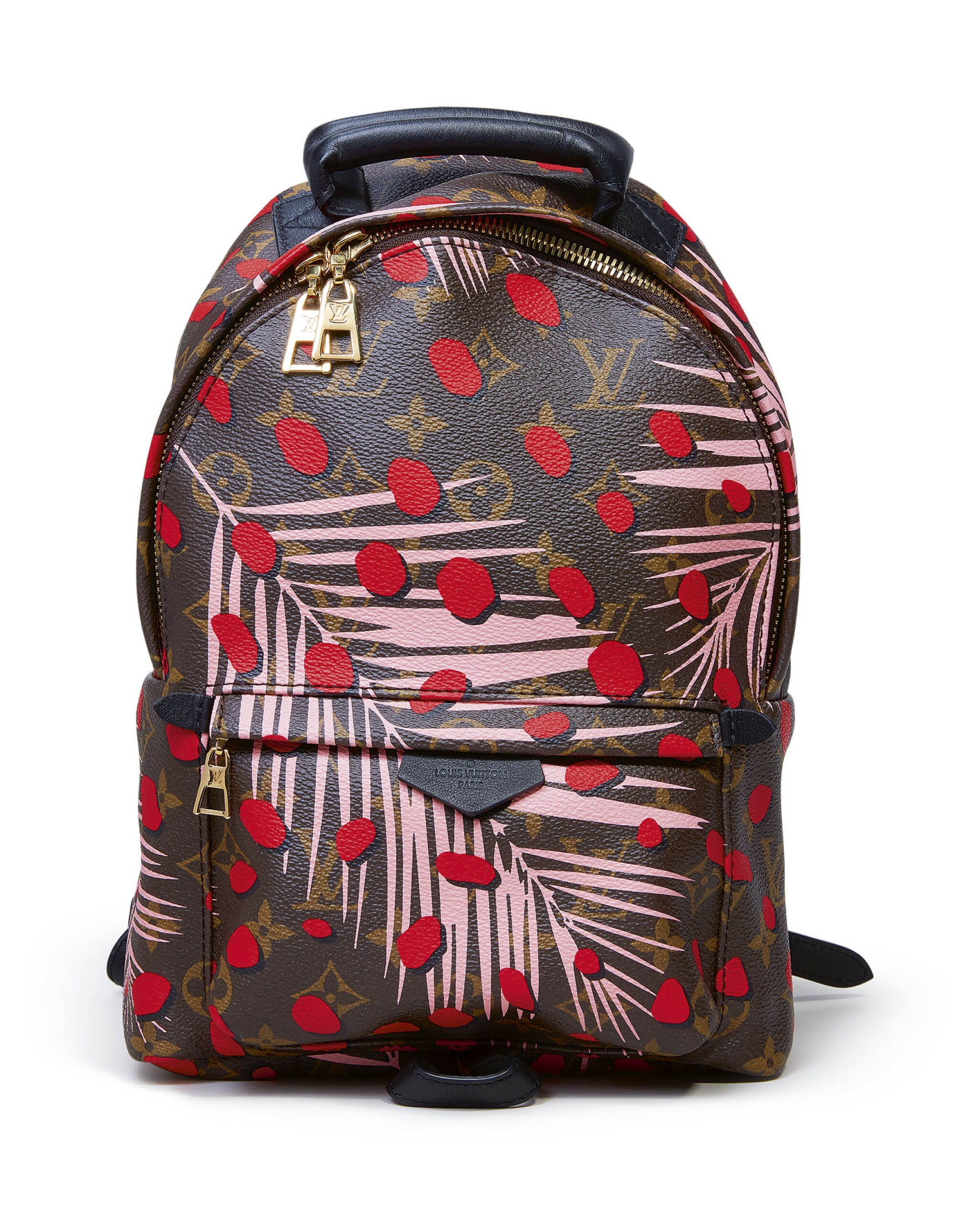 View full screen - View 1 of Lot 34. LOUIS VUITTON | JUNGLE DOTS PALM SPRINGS BACKPACK CIRCA 2016.