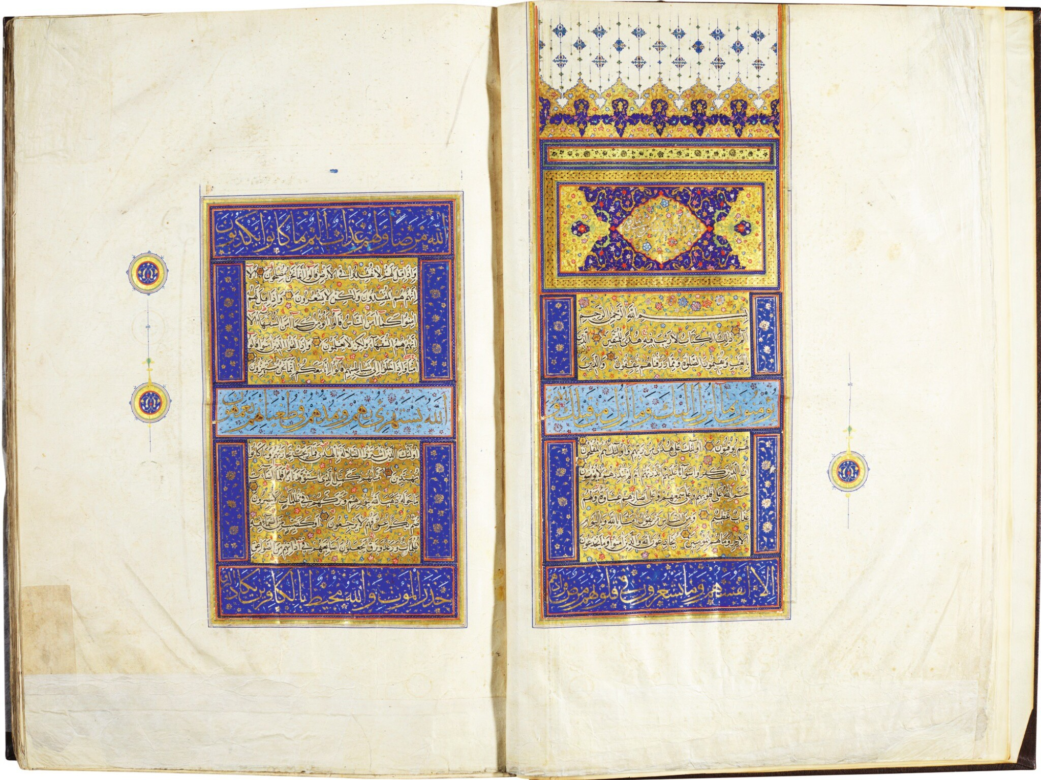 View full screen - View 1 of Lot 17. A MONUMENTAL ILLUMINATED QUR'AN, PERSIA, SAFAVID, MID-16TH CENTURY.