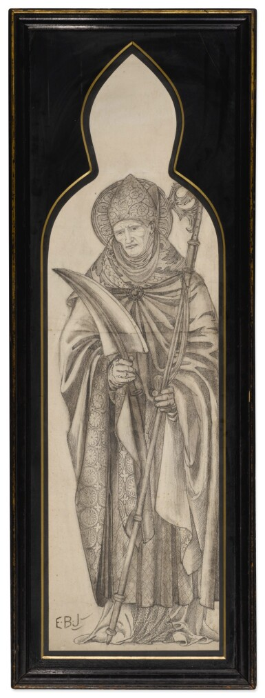 View 2. Thumbnail of Lot 37. SIR EDWARD COLEY BURNE-JONES, BT., A.R.A., R.W.S. AND STUDIO   FOUR CARTOONS FOR WINDOWS.