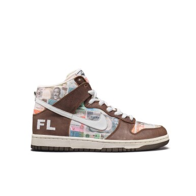 View 6. Thumbnail of Lot 1. Leonard Hilton McGurr 'Futura' | Nike Dunk High Pro SB 'FLOM' | Size 8.