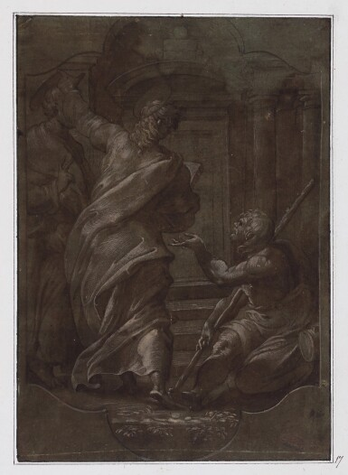 AFTER PERINO DEL VAGA | St. Peter and St. John healing a cripple at the gate of the temple