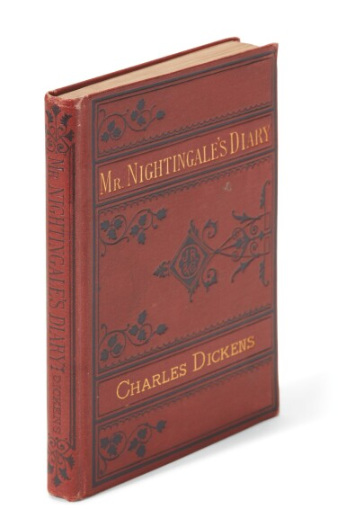 Dickens, Mr. Nightingale's Diary, 1877, first American edition, with Pailthorpe frontispiece