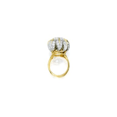 View 2. Thumbnail of Lot 496. GOLD AND DIAMOND RING, SCHLUMBERGER FOR TIFFANY & CO.   黃金鑲鑽石戒指,Schlumberger 蒂芙尼.