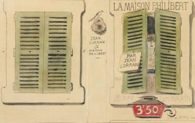 View 1. Thumbnail of Lot 219. BOTTINI. Dessins originaux pour illustrer La Maison Philibert de J. Lorrain. 108 dessins. Reliure Meunier.