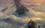 IVAN KONSTANTINOVICH AIVAZOVSKY   Abandoning Ship