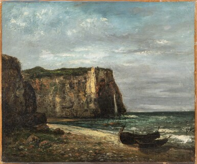 View 1. Thumbnail of Lot 207. The Cliffs at Etretat.