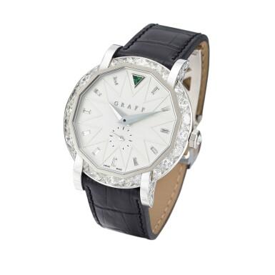 View 2. Thumbnail of Lot 1842. 'GraffStar' Limited Edition Diamond and Emerald Wristwatch with Date   格拉夫   'GraffStar' 限量版鑽石 配 祖母綠 自動上鏈腕錶,附日期顯示.