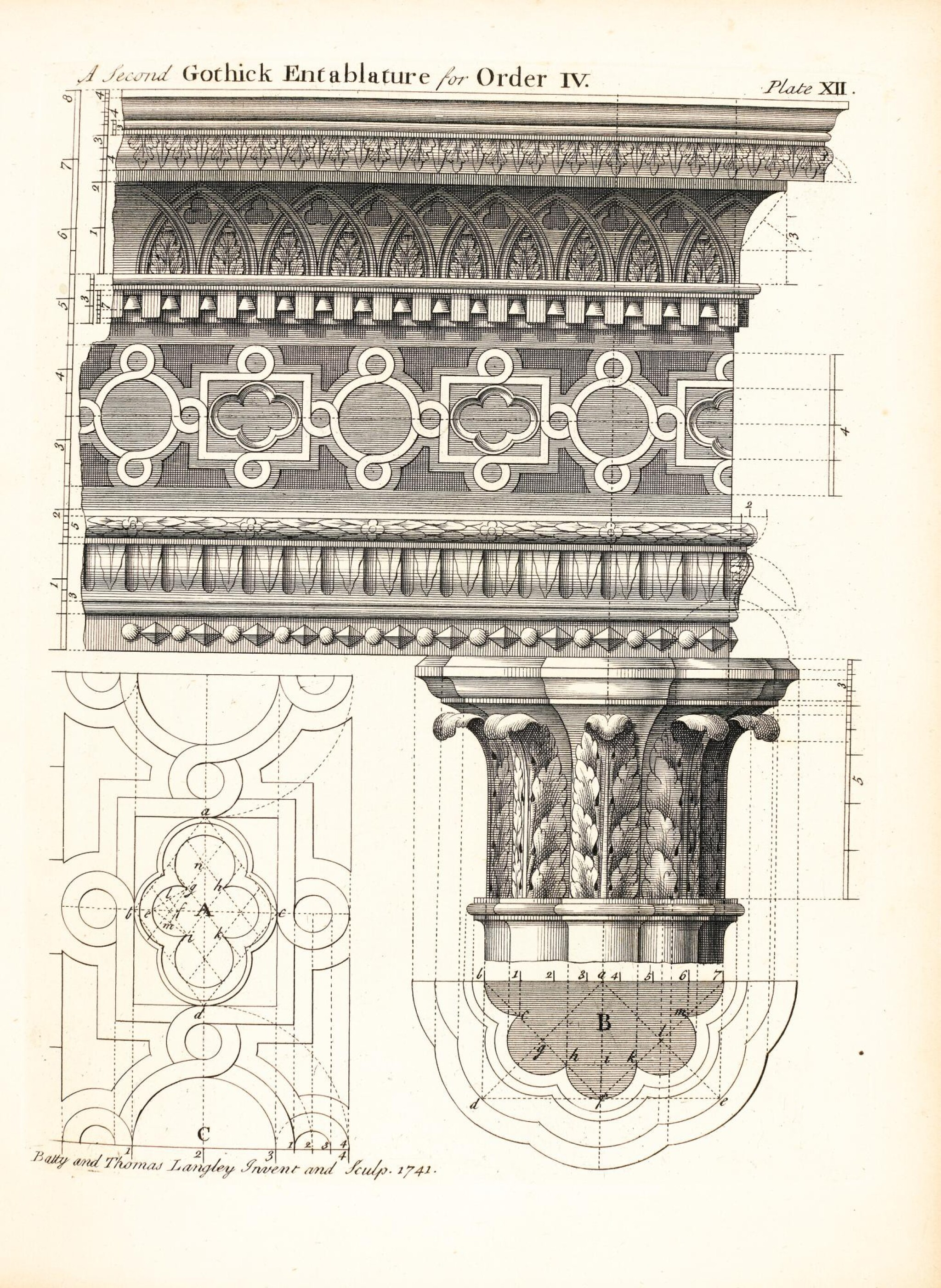 View full screen - View 1 of Lot 57. Architecture | Langley, Halfpenny, and Lightoler | 3 works bound in one volume, 1747-1762.
