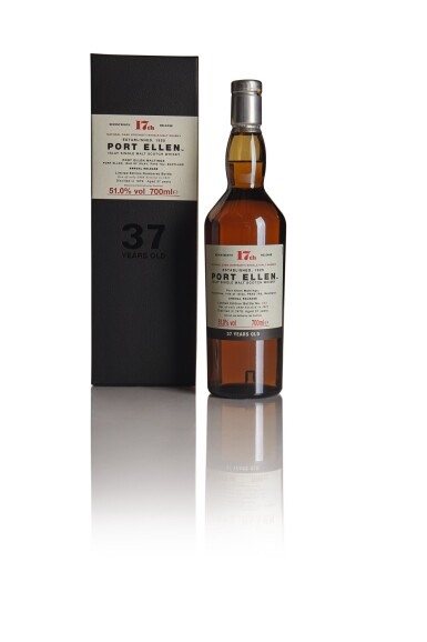 PORT ELLEN SEVENTEENTH ANNUAL RELEASE 37 YEAR OLD 51.0 ABV 1979