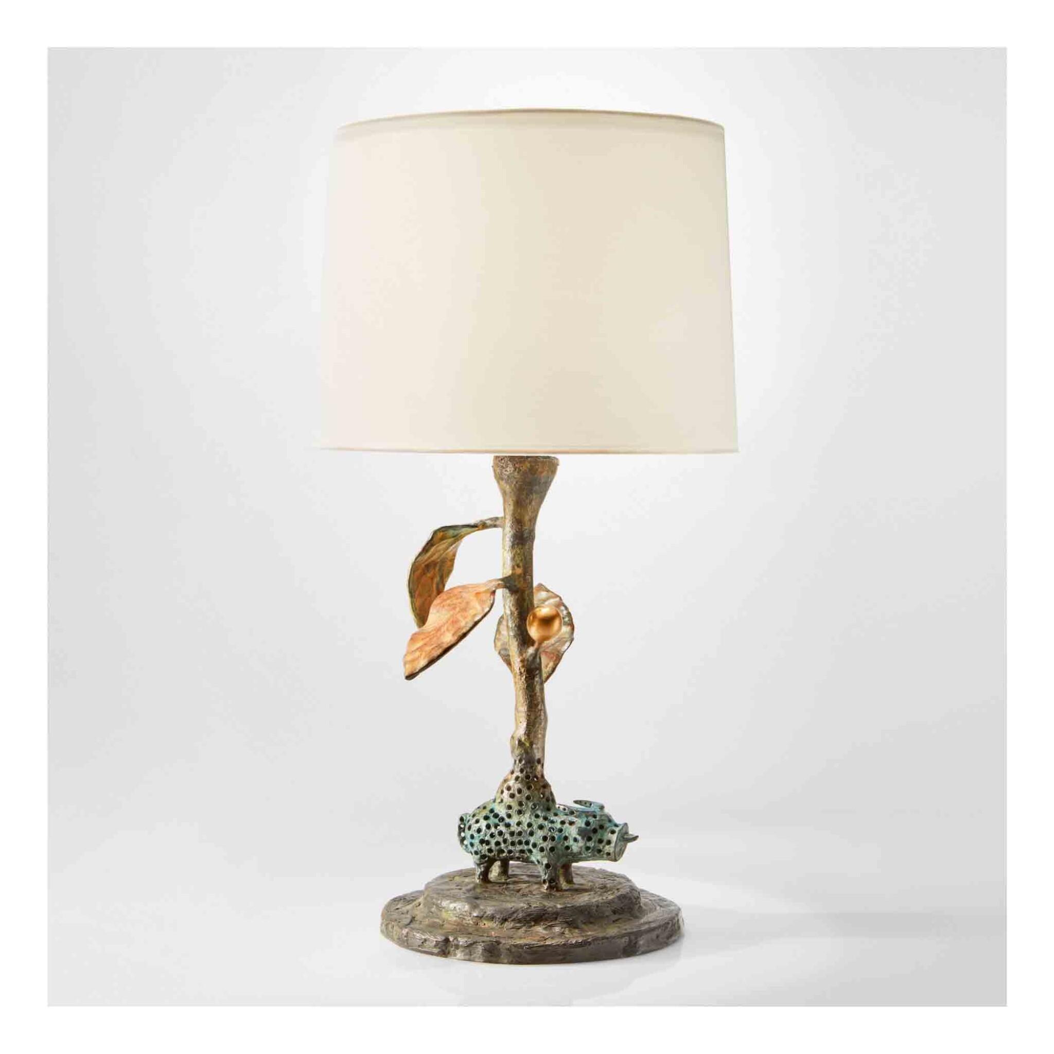 "View 1 of Lot 449. ""Night Spirit"" Table Lamp."