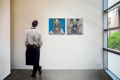 村上隆 Takashi Murakami | A:熊貓說他們很開心;B:熊貓與熊貓寶寶(兩件)A: The Pandas Say They're Happy; B: Panda and Panda Cubs (two works)