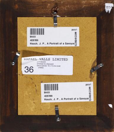 View 3. Thumbnail of Lot 66. J. P. HAUCK | A portrait of a Savoyard.
