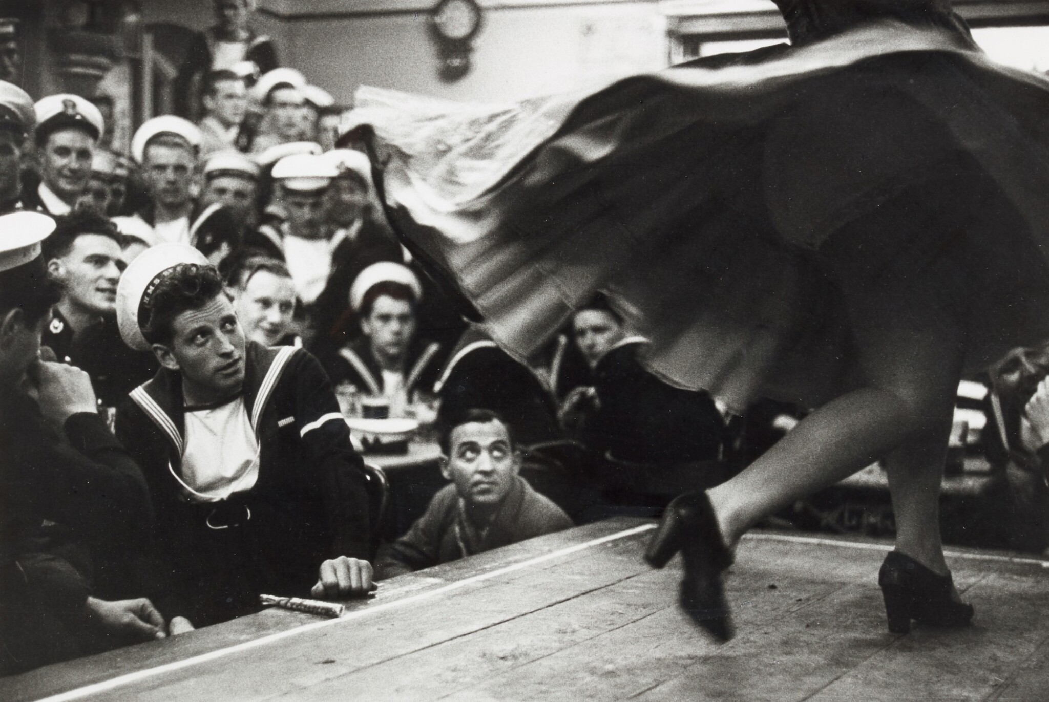 View full screen - View 1 of Lot 141. BERT HARDY    GIBRALTAR, THE COMBINED FLEETS ASHORE, 1954.