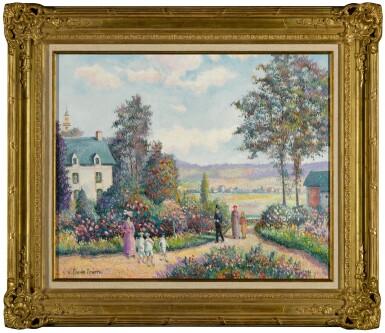 View 2. Thumbnail of Lot 90. Un Dimanche à la Roseraie 'Jean Grave' (Pont de l'Arche Alizay).