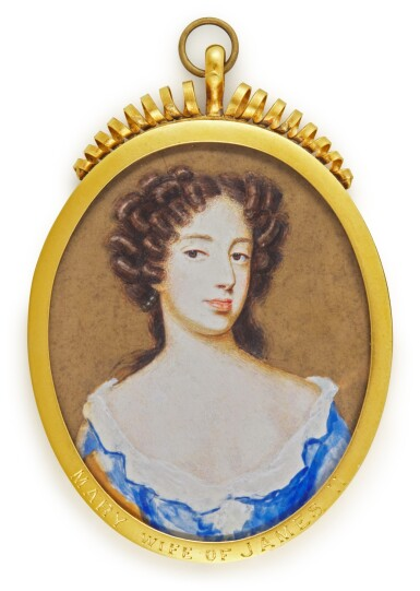 View 1. Thumbnail of Lot 95. Portrait of Maria of Modena, Queen of England (1658-1718), circa 1685.