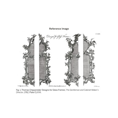 View 3. Thumbnail of Lot 6. A GEORGE III CARVED GILTWOOD MIRROR, CIRCA 1760.