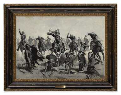 View 2. Thumbnail of Lot 29. Custer's Last Charge (A Sabre Charge).