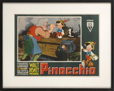 View 2. Thumbnail of Lot 5. PINOCCHIO (1940) POSTER, ITALIAN.