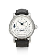 MONTBLANC | HOMAGE TO NICOLAS RIUSSEC II, REFERENCE MBR 200, A LIMITED EDITION STAINLESS STEEL DUAL TIME ZONE SINGLE BUTTON CHRONOGRAPH WRISTWATCH WITH DATE AND DAY AND NIGHT INDICATION, CIRCA 2015