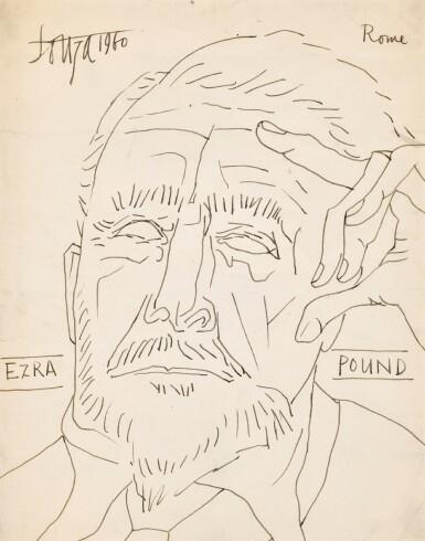 FRANCIS NEWTON SOUZA | Untitled (Ezra Pound)