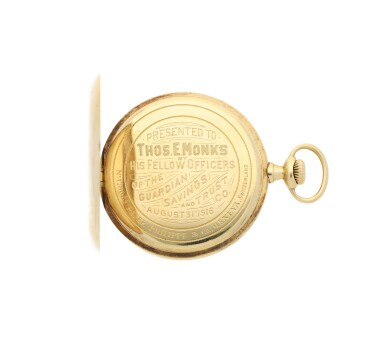 View 2. Thumbnail of Lot 38. PATEK PHILIPPE | A YELLOW GOLD OPEN FACED WATCH, MADE IN 1914.