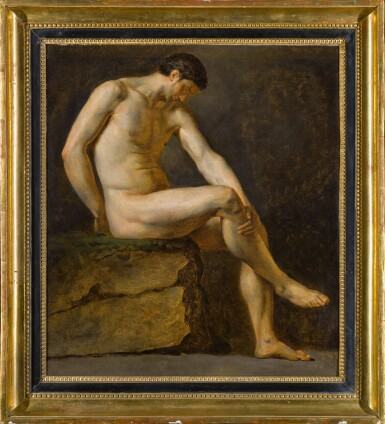View 2. Thumbnail of Lot 117. A seated male nude.