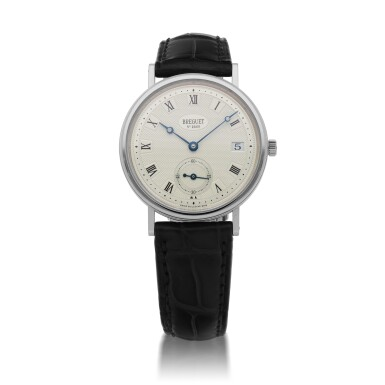 View 1. Thumbnail of Lot 430. CLASSIQUE, REF 5920 WHITE GOLD WRISTWATCH WITH DATE CIRCA 2010.