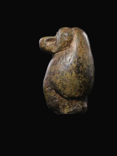 View 3. Thumbnail of Lot 56. AN EGYPTIAN SERPENTINE FIGURE OF A BABOON, 26TH/30TH DYNASTY, 664-342 B.C..