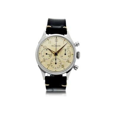 View 1. Thumbnail of Lot 72. VALJOUX 72  A STAINLESS STEEL CHRONOGRAPH WRISTWATCH, ORIGINALLY OWNED BY NASA ASTRONAUT, WALTER 'WALLY' M. SCHIRRA, CIRCA 1950.