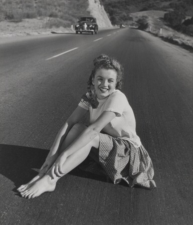 UNIQUE VINTAGE GELATIN PHOTOGRAPH OF MARILYN MONROE, 'THE JOURNEY BEGINS', 1945, US
