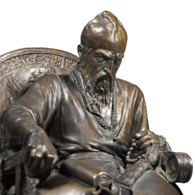 View 3. Thumbnail of Lot 283. Ivan the Terrible: a bronze figure, after the model by Mark Antokolsky (1843-1902).