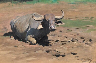 WILHELM KUHNERT | Resting Buffalo
