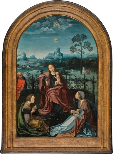 View 2. Thumbnail of Lot 7. The Holy Family with Saints Catherine and Ursula | 《聖家與聖凱薩琳及烏蘇拉》.