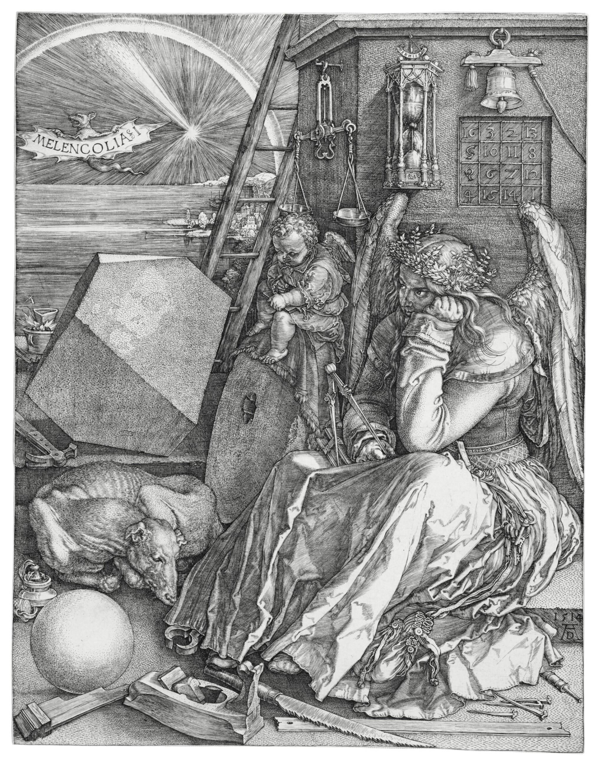 View full screen - View 1 of Lot 6. Melencolia I (B. 74; M., Holl. 75).