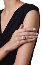 FANCY PINK-PURPLE DIAMOND AND DIAMOND RING | 彩粉紅紫色鑽石配鑽石戒指