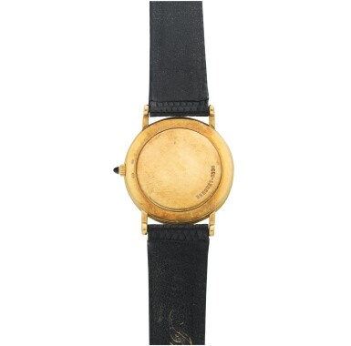 REFERENCE 3338 RETAILED BY TIFFANY & CO: A YELLOW GOLD WRISTWATCH, CIRCA 1980