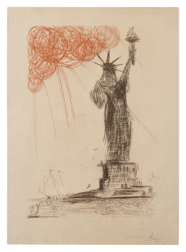 SALVADOR DALÍ | STATUE OF LIBERTY (MICHLER/LÖPSINGER 115; FIELD 64-3D)