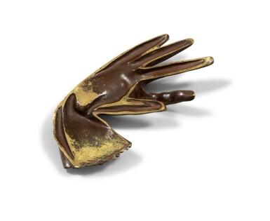 """View 2. Thumbnail of Lot 178. Sculpture en bronze, [vers 1900] : gant de femme (reproduit dans """"Nadja"""").."""