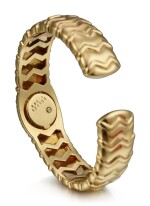 CHOPARD | REFERENCE S10/4968, A YELLOW GOLD AND DIAMOND-SET BANGLE WATCH, CIRCA 2000
