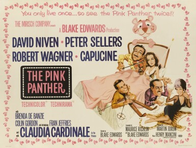 The Pink Panther (1963) poster, British