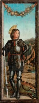 ATTRIBUTED TO BERNARDO PARENTINO POREČ 1450 - 1500 VICENZA | SAINT GEORGE, AFTER ANDREA MANTEGNA