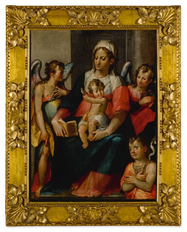 View 2. Thumbnail of Lot 574. The Madonna and Child with Young St. John the Baptist and two angels.