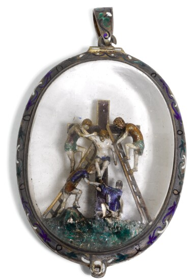AUSTRO-HUNGARIAN | Pendant depicting the Deposition of Christ