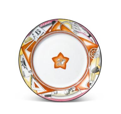 Red Star: A Soviet porcelain plate, State Porcelain Factory, Petrograd, 1921