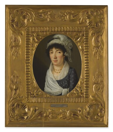GIACOMO BERGER | PORTRAIT OF A LADY, PROBABLY ELIZABETH REGIS, BUST LENGTH