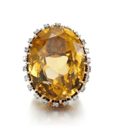 View 2. Thumbnail of Lot 40. CITRINE AND DIAMOND RING | STERLÉ, 1950S.