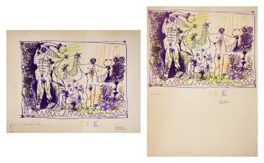 PABLO PICASSO | TWO WORKS: AFFICHE POUR L'EXPOSITION 1957 (B. 1275; M. 299; CZW. 25)