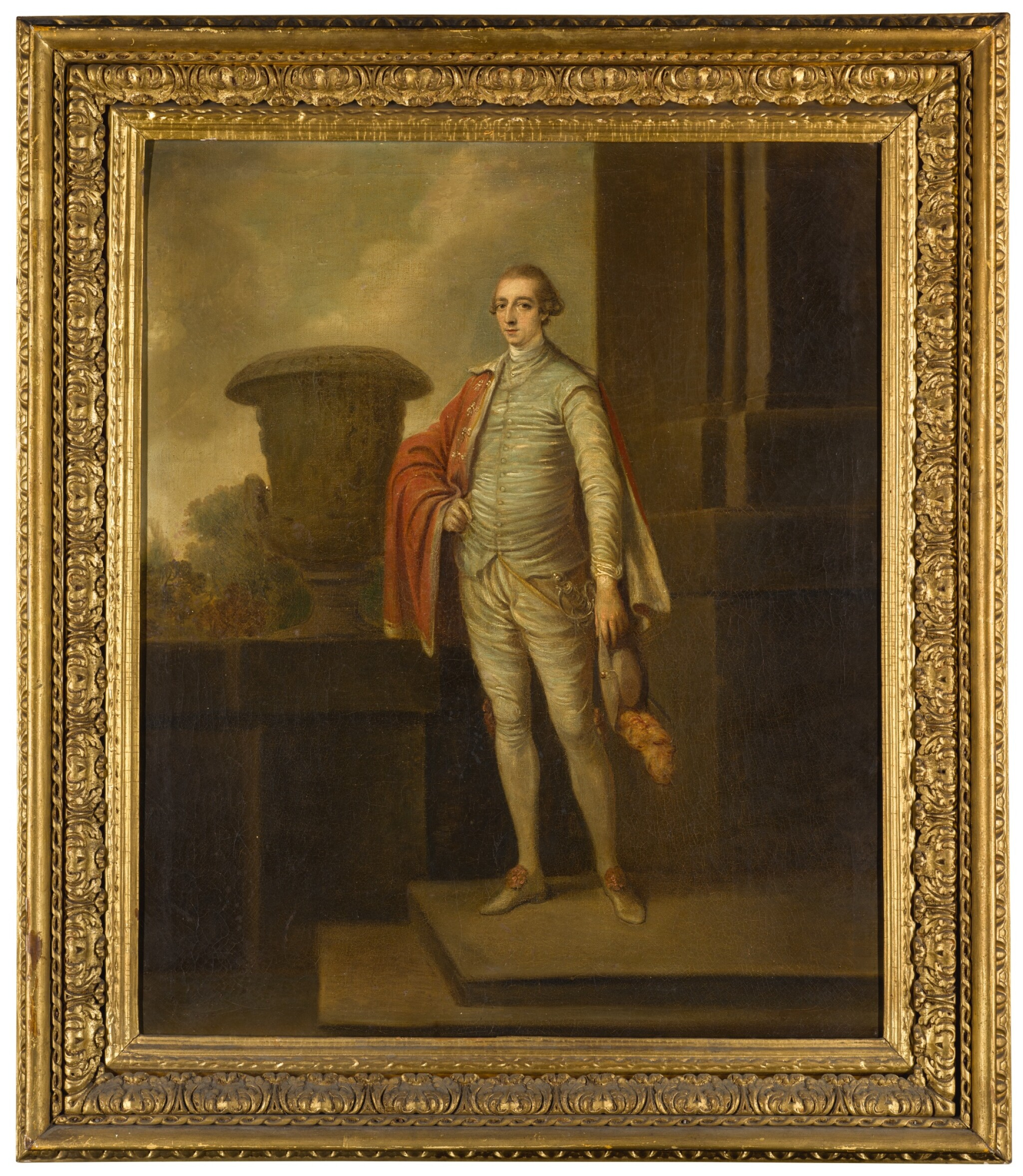 View full screen - View 1 of Lot 54. ROBERT HUNTER | PORTRAIT OF JOSEPH LEESON, LATER 2ND EARL OF MILLTOWN (1730-1801), FULL-LENGTH, STANDING BY A CLASSICAL URN, A LANDSCAPE BEYOND.