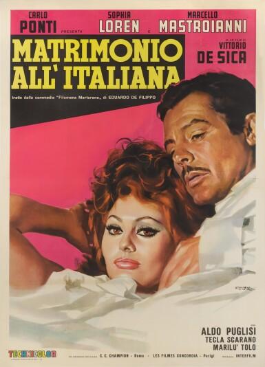 MATRIMONIO ALL' ITALIANA / MARRIAGE ITALIAN STYLE (1964) POSTER, ITALIAN